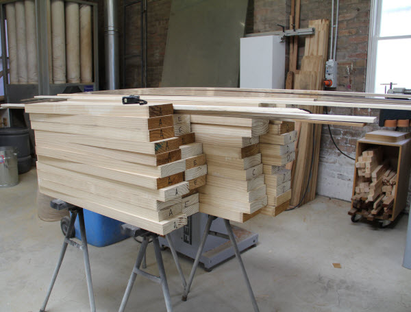 Stock of wood materials