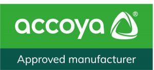 Approved manufacturer Accoya logo
