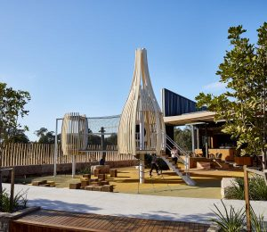 Curved timber Outdoor playground